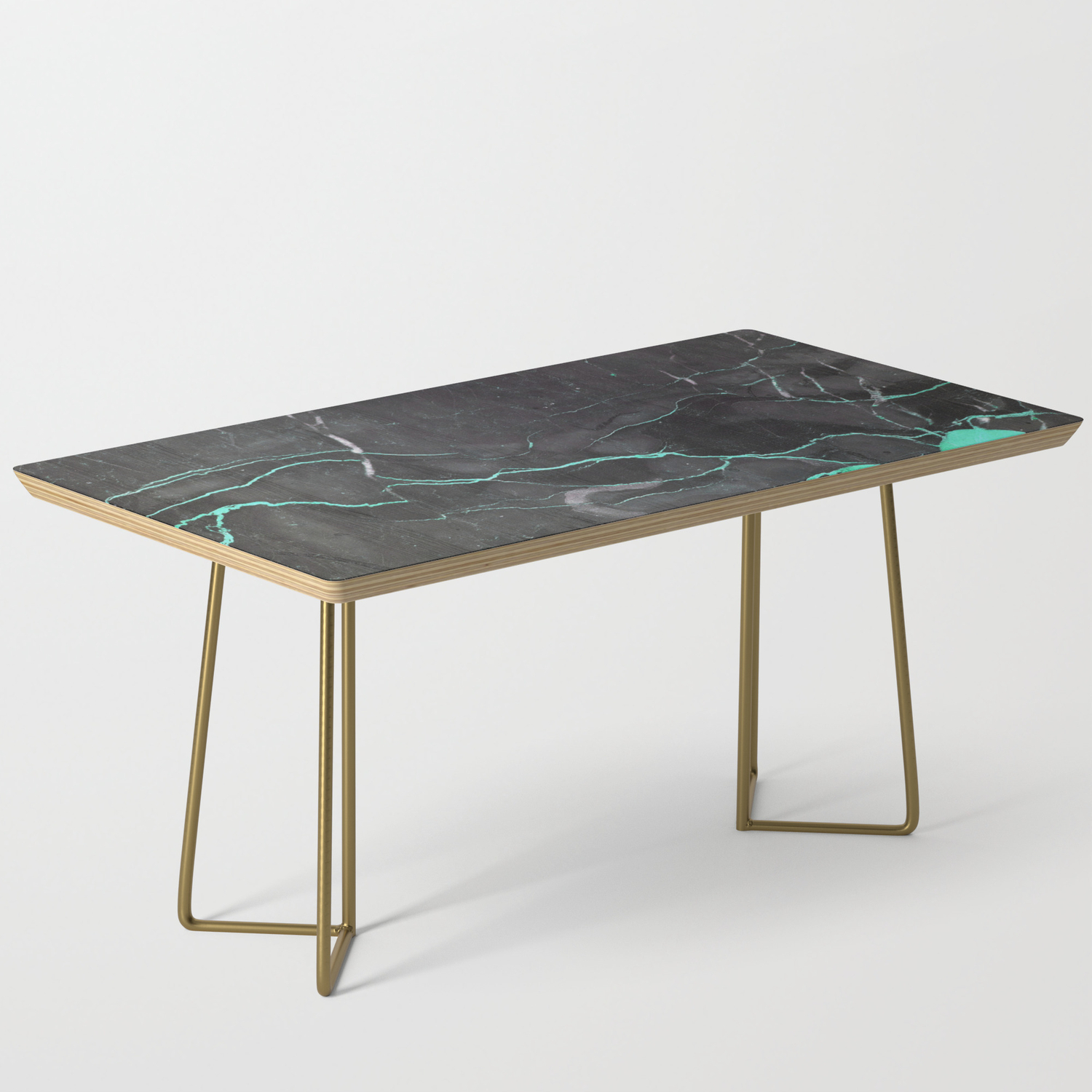 Grey And Blue Marble Coffee Table By