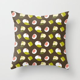 Dim sum pattern Throw Pillow