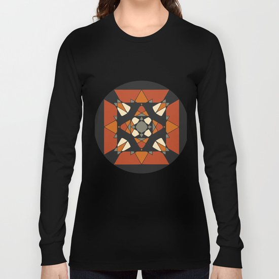 Mandala earth colors Long Sleeve T-shirt