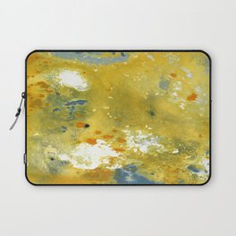 Abstract Acrylic Painting YELLOW Laptop Sleeve