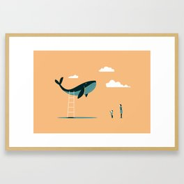 May I? (beige) Framed Art Print