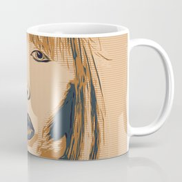 Funky Lady Green #PopArt Coffee Mug