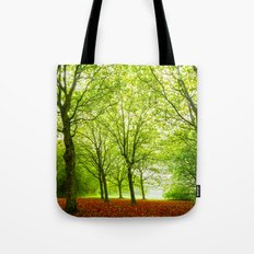Lovly Green Forest Tote Bag