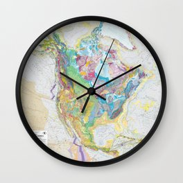 USGS Geological Map of North America Wall Clock