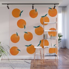 Happy little oranges Wall Mural
