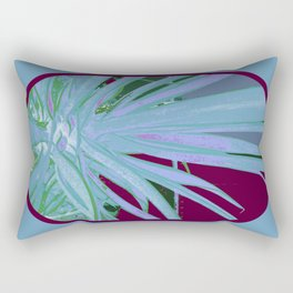 Pale Blue Tropics Rectangular Pillow