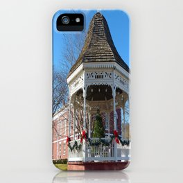 Gazebo & Courthouse Dressed for the Holidays iPhone Case