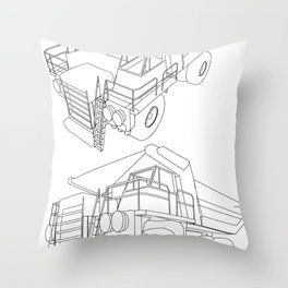 dumper Throw Pillow