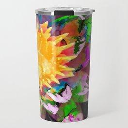 Abstract Flower Art - Wild Lotus Flower - Sharon Cummings Travel Mug