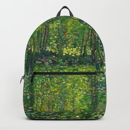 Trees and undergrowth (1887) by Vincent van Gogh  Backpack