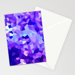 Modern Abstract Polygonal Purple Mosaic Stationery Cards