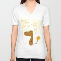 canada V-neck T-shirts featuring A moose ing by Picomodi