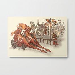 Drag Racers Metal Print