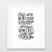 scripture Framed Art Prints featuring Isaiah Scripture Art by Poppy Quinn