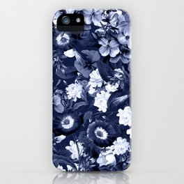 Bohemian Floral Nights in Navy iPhone Case