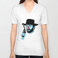 clint eastwood V-neck T-shirts featuring Clint Eastwood by Eduardo Guima
