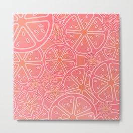 The Grapefruit Salute Metal Print