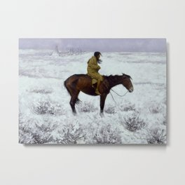 "Frederic Remington Western Art ""The Herd Boy"" Metal Print"