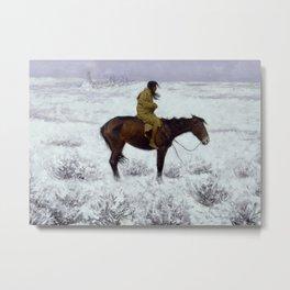 "Frederic Remington Western Art ""The Herd Boy"" Metal Print"