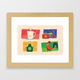 Kitchen poster Framed Art Print