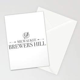 Brewers Hill Wordmark Black Stationery Cards