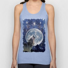 A One Wolf Moon Unisex Tank Top