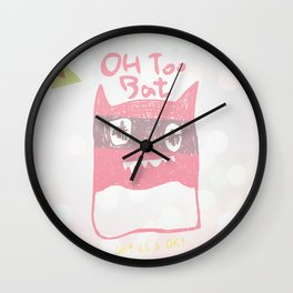 Oh Too Bat Wall Clock