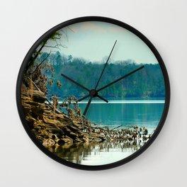 Carter's Lake, Chatsworth, Georgia, USA (pt 2) Wall Clock