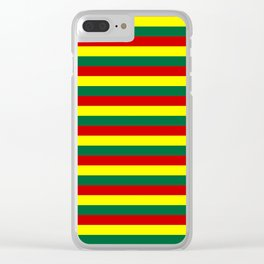 red green yellow stripes Clear iPhone Case