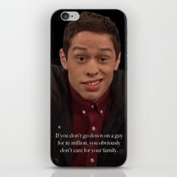 snl iPhone & iPod Skins featuring Pete Davidson Talks Business by F*** Me Pete Davidson