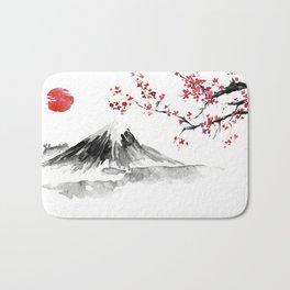 Sunset Over Mt Fuji Bath Mat