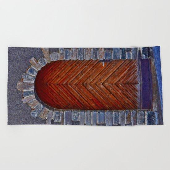 Wood Door Beach Towel