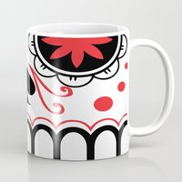 sugar skull Mugs featuring sugar skull by Diseños Fofo