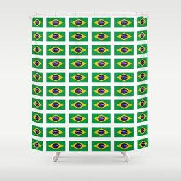 flag of brazil 4-Brazil, flag, flag of brazil, brazilian, bresil, bresilien, Brasil, Rio, Sao Paulo Shower Curtain