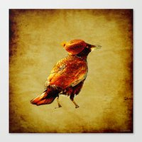 crow Canvas Prints featuring Crow by Ganech joe