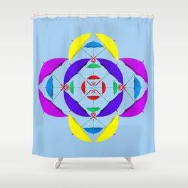 Brollys Shower Curtain