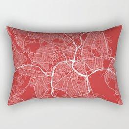 Providence Map, USA - Red Rectangular Pillow