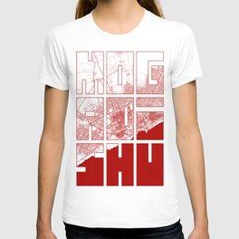 Mogadishu City Map of Somalia - Oriental T-shirt