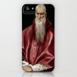 "El Greco (Domenikos Theotokopoulos) ""Saint Jerome as Scholar"" iPhone Case"