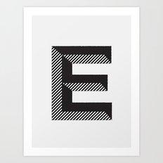 E for.... Art Print