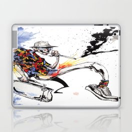 Hunter S Thompson by BINDU Laptop & iPad Skin