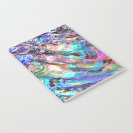 Shimmery Rainbow Abalone Mother of Pearl Notebook