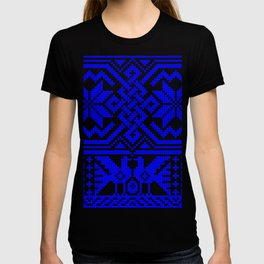 Cross-stitch - Blue T-shirt