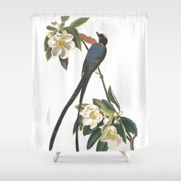 Forked tailed flycatcher, Birds of America, Audubon Plate 168 Shower Curtain