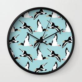 Seabirds in flight Wall Clock