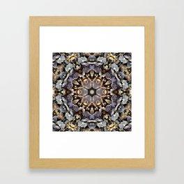 Mushroom Mandala 2 Framed Art Print