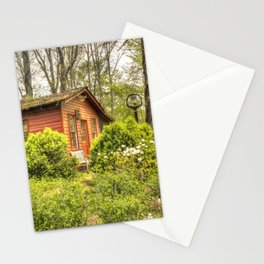 Pretty in red  Country school #1 Stationery Cards