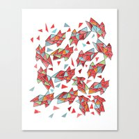 triangles Canvas Prints featuring triangles by Matthew Taylor Wilson