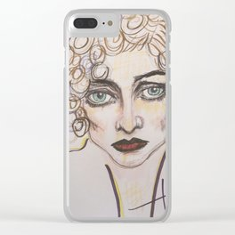 joan lavender and brown Clear iPhone Case
