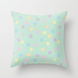 Frooty Loops Throw Pillow